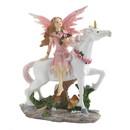 Dragon Crest 57074458 Pink Fairy With Unicorn Figurine