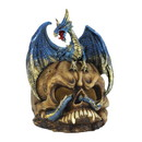 Dragon Crest 57074480 Blue Dragon And Skull Statue